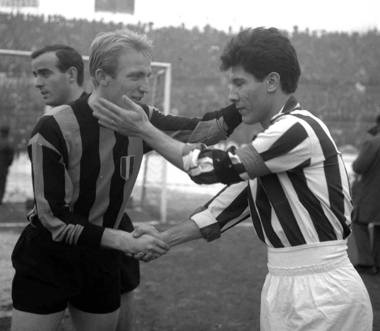 Carlo Tagnin and Omar Sívori, 1962.