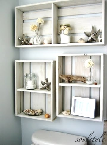 homingscrapblog:  (via Crate Chic -Using Old Wooden Crates as Tables, Storage Bins, Trays & Shelves)