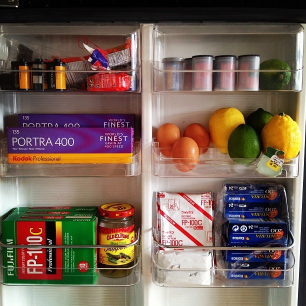 A well stocked fridge door. (Taken with instagram)