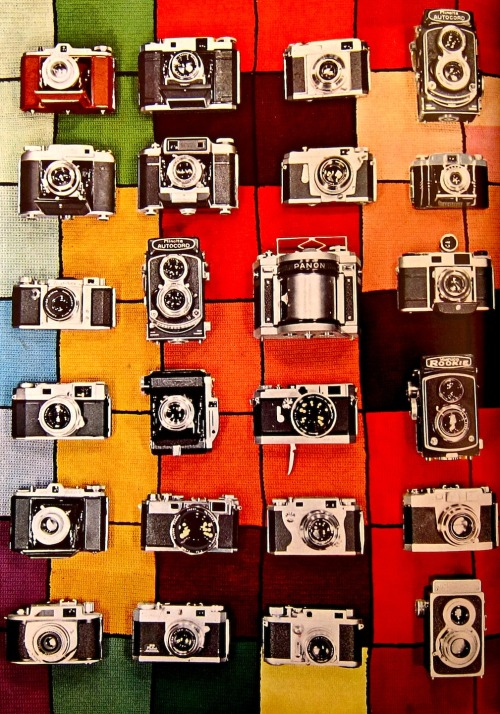 Cameras from This Is Japan 1957, available at Press: Works On Paper.