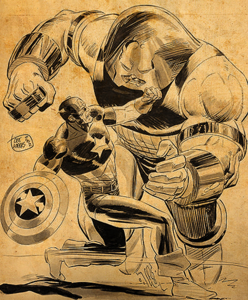 Juggernaut vs. Captain America By Lee Weeks