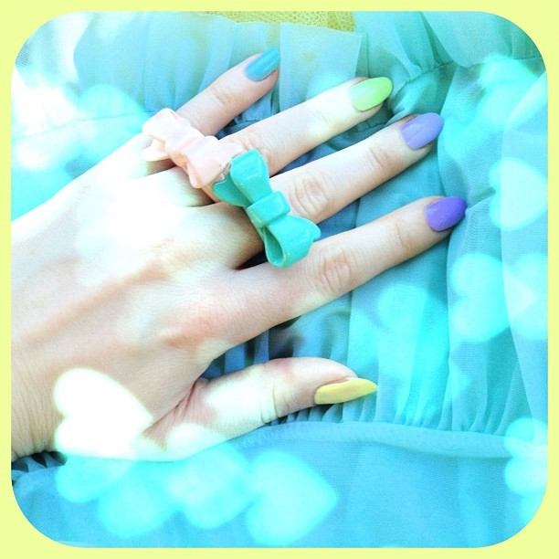 Lime Crime Nail Polish in action! Coming June 1. (Taken with instagram)