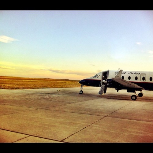 6:45am Thursday. Catching a very small plane back from Riverton, WY to Denver. I'm actually a little sad to leave.  Wyoming is beautiful and the people were real. I'm really excited for this story to run. I got some great images.