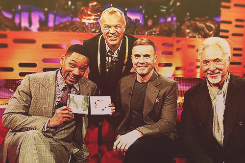 Will Smith, Gary Barlow, and Tom Jones on the Graham Norton Show.