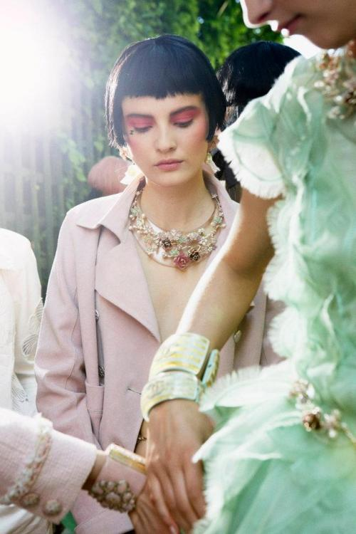 labellefabuleuse:  Backstage at Chanel, Cruise 2013