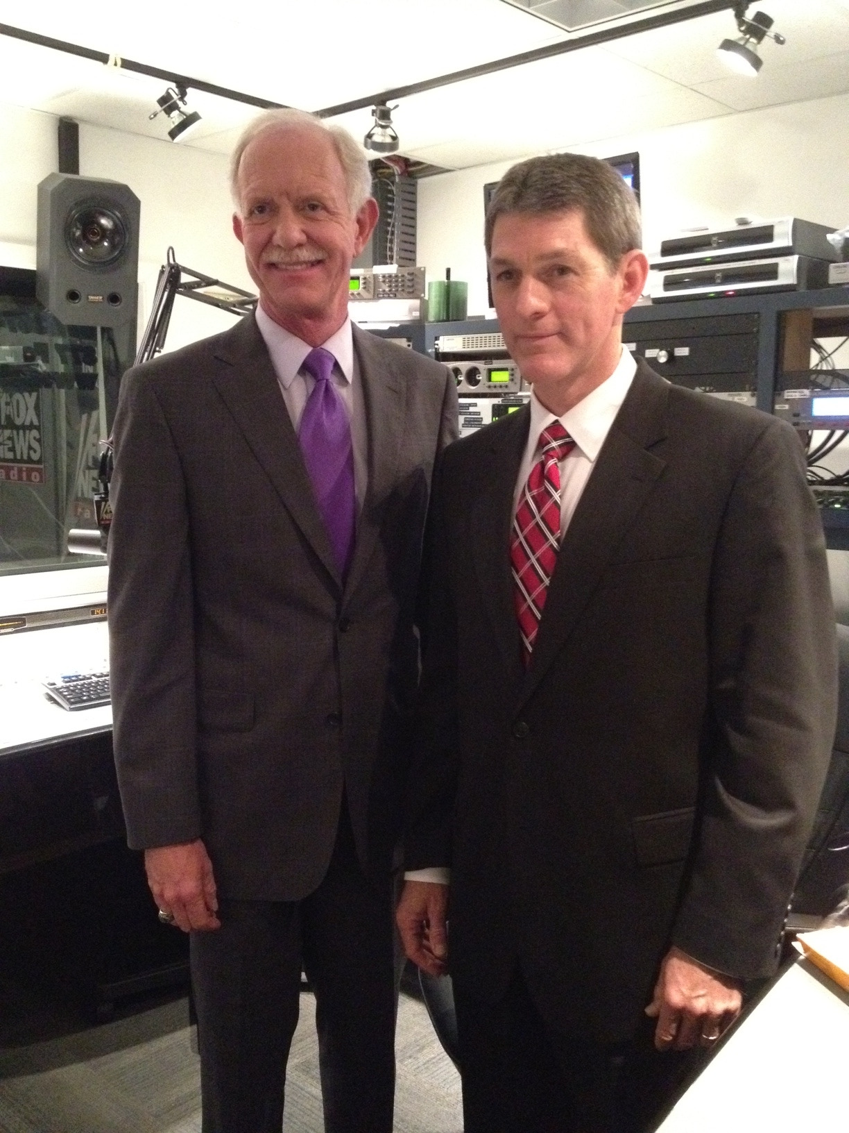 Our author Henry Crumpton with Captain Sully Sullenberger. (Crumpton, a CIA Clandestine Service veteran, has probably experienced aerial crises too, though he's not allowed to talk about it.)