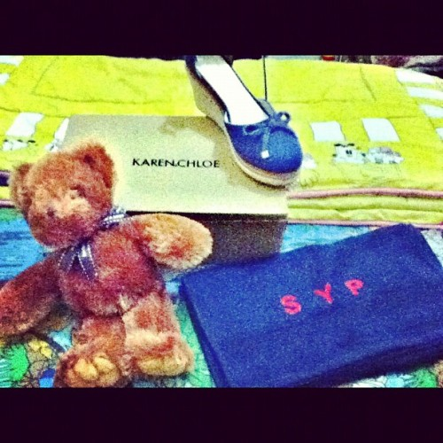 #new #KAREN&CHLOE #wedges #birds&bees #bear #towel #Highend (Taken with instagram)