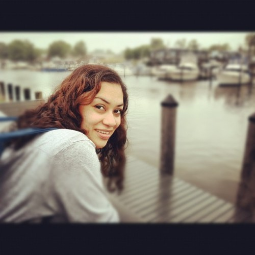 Salma waiting for the Fire Island Ferry (Taken with instagram)