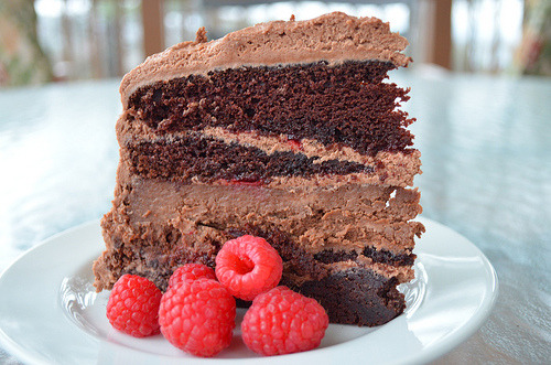 thecakebar:  Chocolate Raspberry Cheesecake Cake
