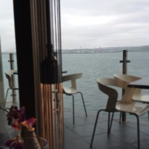 Breakfast with my old editor—and a view (Taken with instagram)