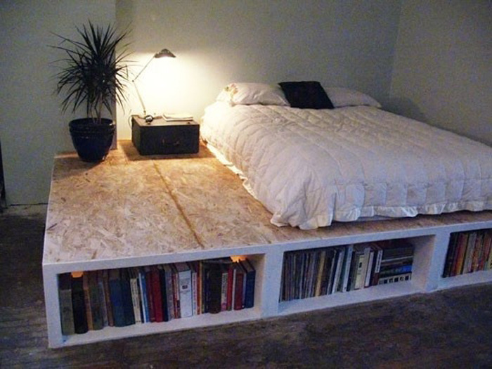 The idea of a bedshelf — like a bookshelf, but with a bed — is bloody brilliant.