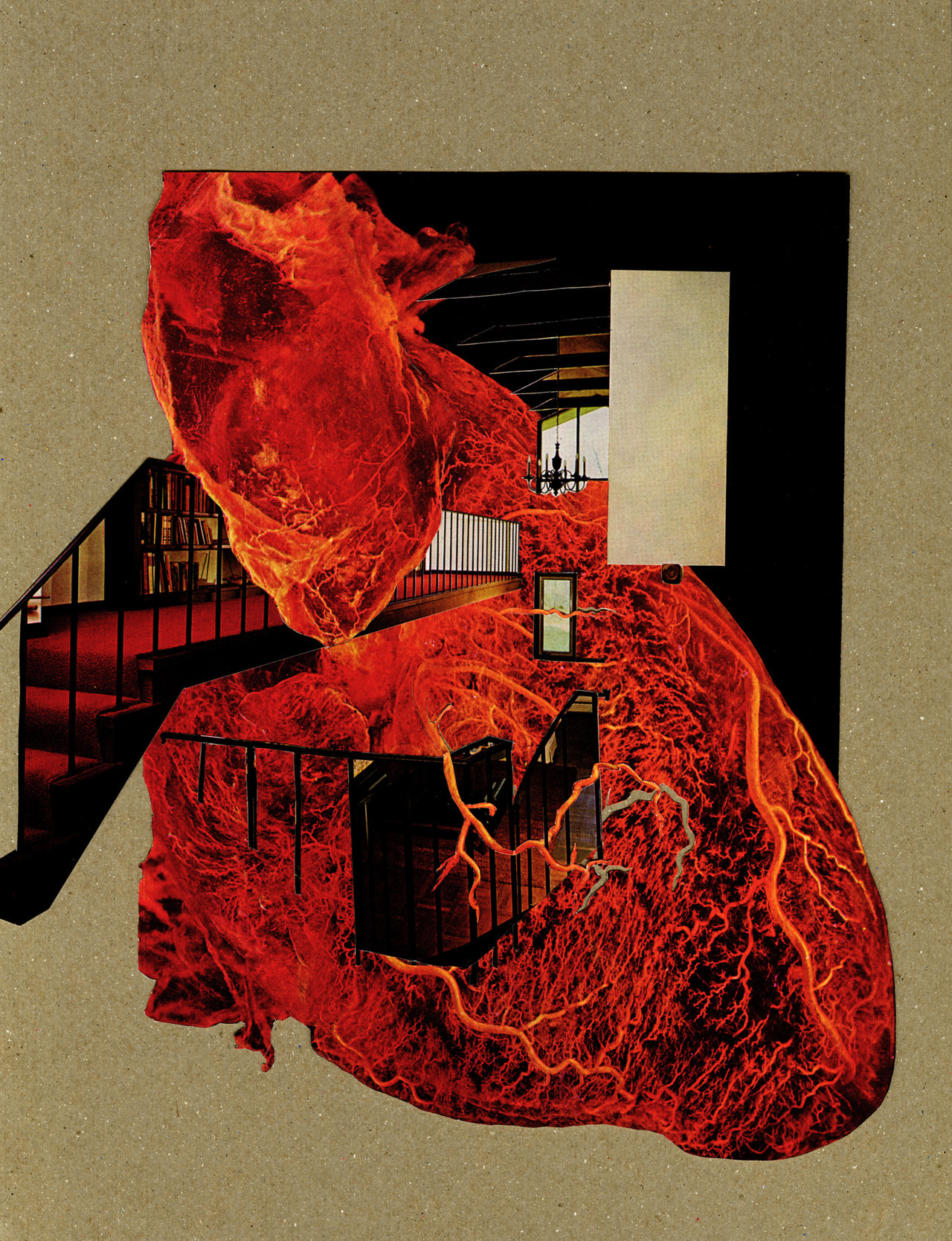 "tresroemer:  ""open heart"" by Tres Roemer ©2012 cut paper collage"