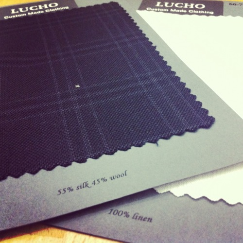 New fabric samples in for the men's suiting!