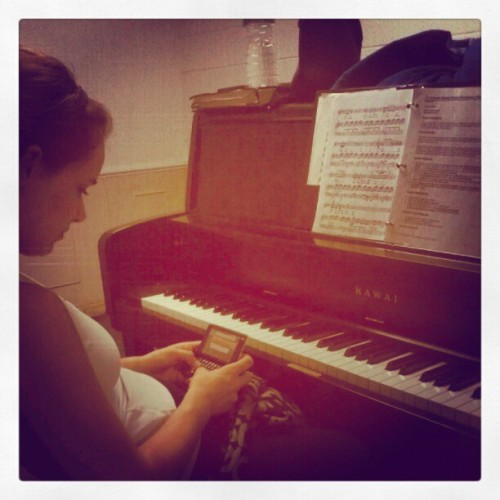 Chloe Practicing Her Voice Demo :) (Taken with instagram)