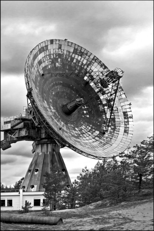 bassman5911:  SECRET SOVIET RADIO TELESCOPE AND FORMER CLOSED TOWN. IRBENE