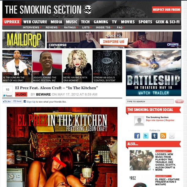"The Smoking Section knows wassup… Do You?? Listen to ""In the Kitchen"" feat. AleonCraft off the #LEADERSHIT LP:  http://t.co/bNFPLp7g (Taken with Instagram at The West Wing)"