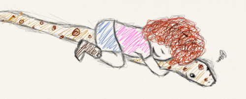 I drew Abby hugging Sam yes. By the way I can't draw snakes or children.