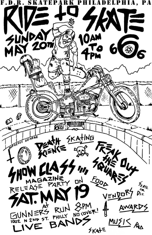 Ride to skate event Sunday May17
