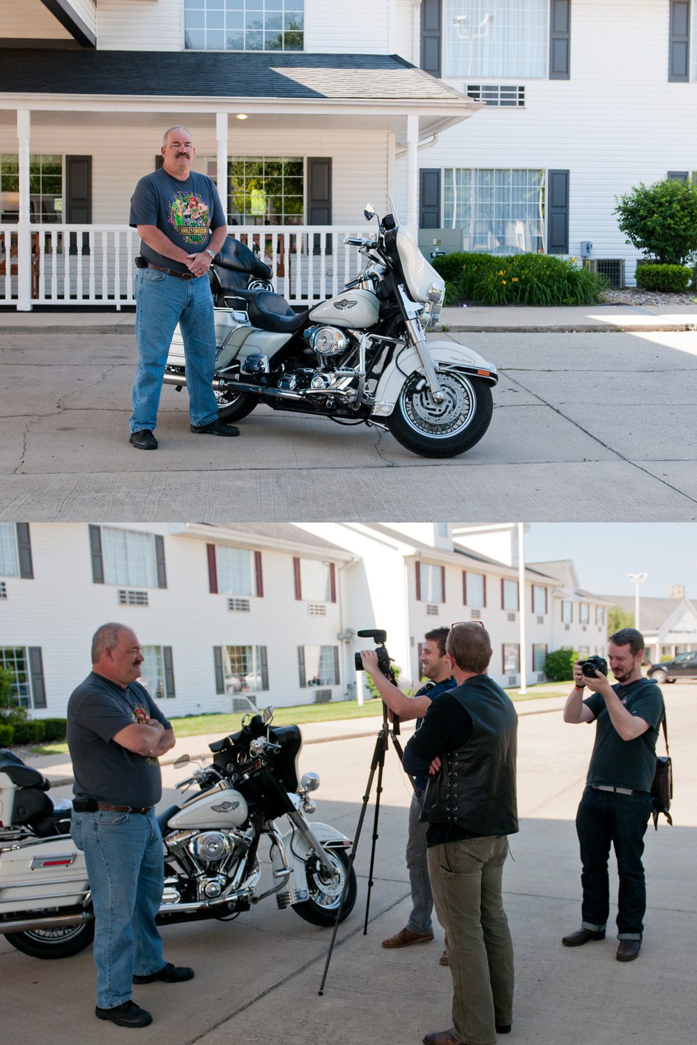 The Operation Route 66 team interviews Ken Hansel a firefighter we met outside of Springfield, MO. We've been talking to citizens who haven't served but want to deliver a message to our veterans. It's been very rewarding and we'll keep doing it as we head west! Check us out in Amarillo, Tucamcara, Albuquerque, Santa Fe, Flagstaff, Kingman, Joshua Tree, and Los Angeles/ Santa Monica.