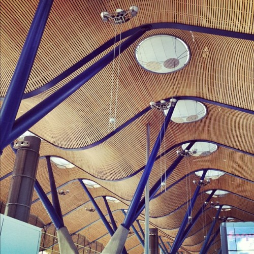 #Barajas #airport #ceiling by #RichardRogers #architecture #archdaily #iphonesia #instagood #madrid #munichairport  (Taken with instagram)