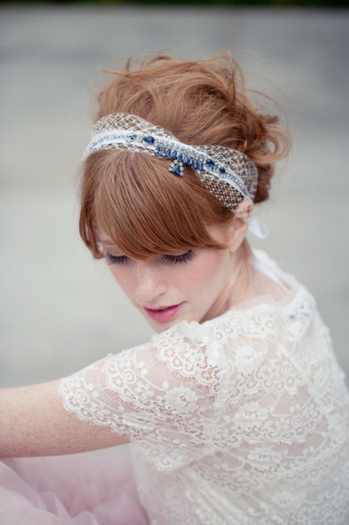 Vintage Blue Rhinestone Headband on Tailored.co