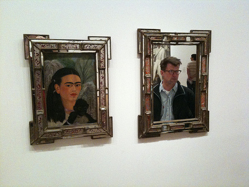 """Frida and Fredo"", by Scott Simpson (September, 2009)  Can't believe I never saw this photo by Scoots before this morning.  Shit, man, I really need to tweeze."