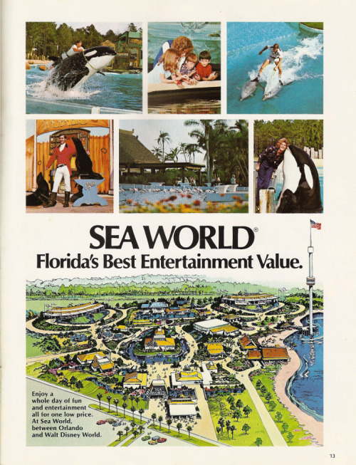 A Sea World promo poster from the 1970's.  Amazing to see how small the park was when it first opened.