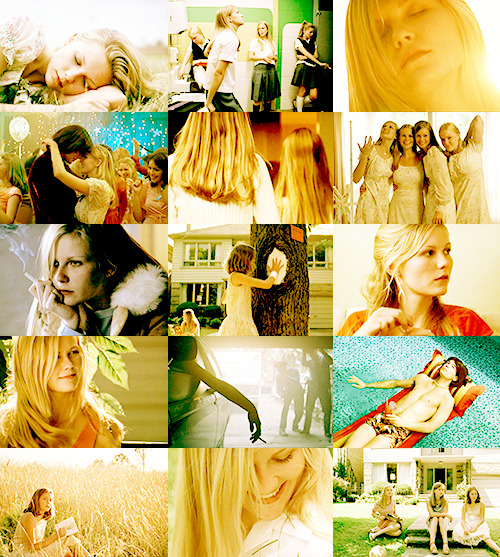 MOVIES I COULD WATCH FOREVER AND EVER//The Virgin Suicides (1999)  What lingered after them was not life, but the most trivial list of mundane facts: a clock ticking on a wall, a room dim at noon, and the outrageousness of a human being thinking only of herself.