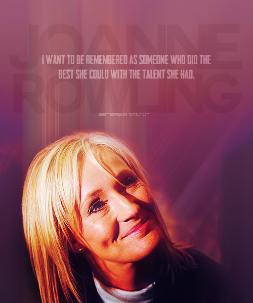 → 09/50 favourite pictures of Jo Rowling