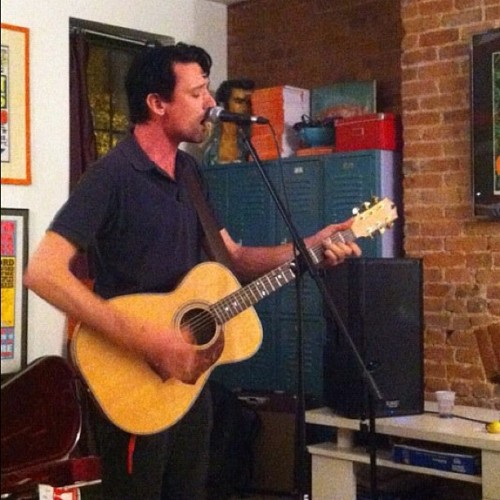 Mr @PaulDempsey live and #acoustic in @arielpr's living room in #Brooklyn, #NewYork for #CMJ 2010. #amazing #throwbackthursdays #throwbackthursday #tbt  (Taken with Instagram at Broooooooklyn!)