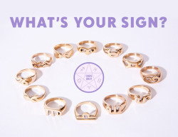 Exclusive new zodiac rings from Jen's Pirate Booty <3