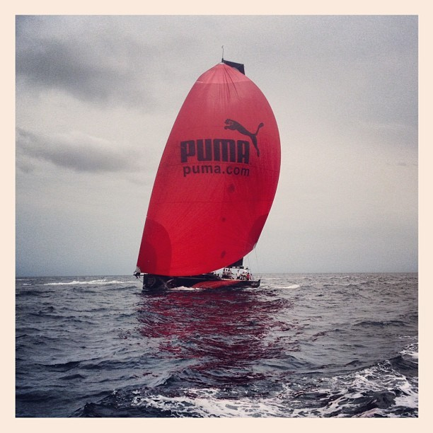 Uh oh @marmostro / @puma is gaining on us! #volvooceanrace #sailing #groupama (Taken with instagram)