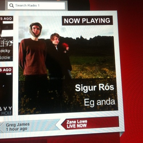 on @bbcr1 now! http://instagr.am/p/KvPGAFocS-/