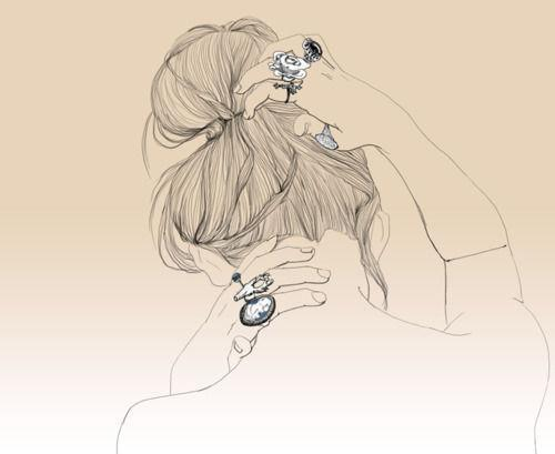 Rings,Blue,Girl,Draw,Paint,Illustration - inspiring picture on PicShip.com