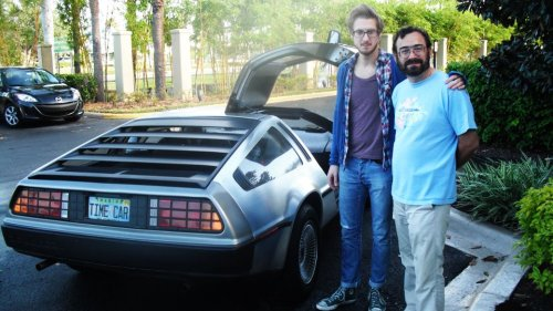 doctorwho:  Arthur and a DeLorean As part of BBC America's Rate My Ride contest for Top Gear, somebody submitted a photo of his DeLorean… with Arthur Darvill. soul-in-the-starlight:  What is happening. I have too many feelings.
