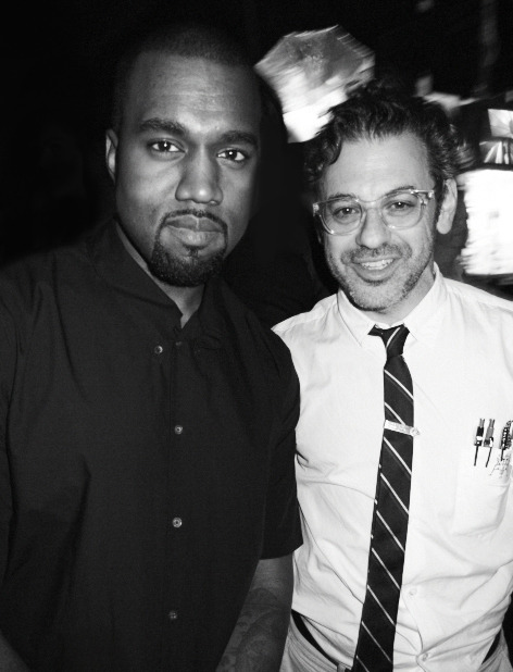 Two stylish and preppy guys; Kanye West and Tom Sachs at the Tom Sachs 'Space Program: Mars' opening at Part Avenue Armory in NYC.