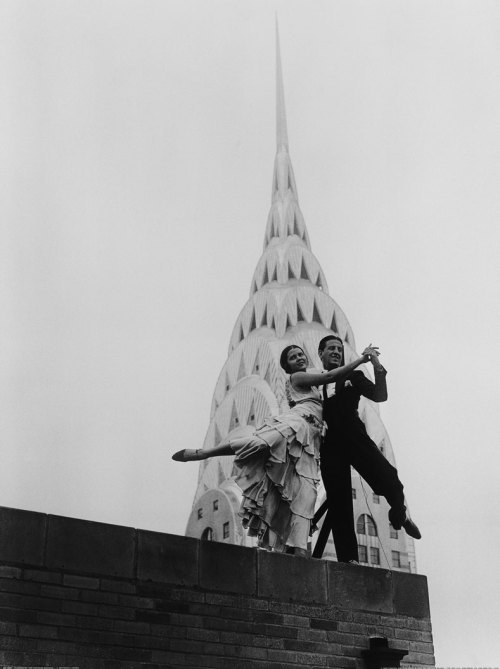 Dancing by the Chrysler Building by Bettmann