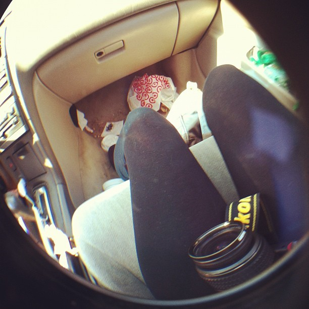 Put my fisheye over my camera ☺ (Taken with instagram)