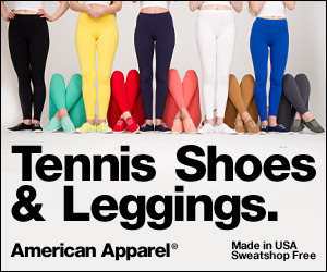 Tennis Shoes and Leggings by American Apparel.