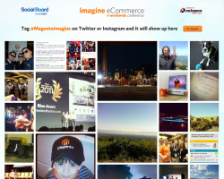 The Imagine 2012 conference was a huge success. It was completely sold out. We implemented a social wall that displayed tagged twitter pictures in real time. This provided an image feed from the conference floor, for those who were not able to attend.