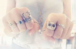 fashion portraits, owl, people and portraits, photography, rings - inspiring picture on Favim.com on We Heart It. http://weheartit.com/entry/26050369