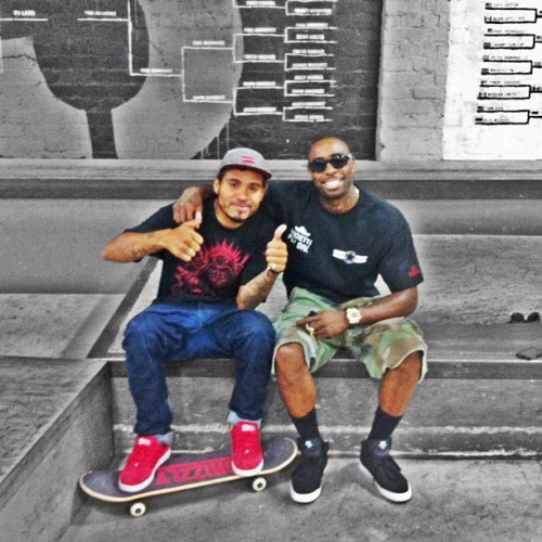Kicking it with the homie @terry_kennedy , Goodtimes at the @berrics #skateboarding #Homies #Goodtimes #TK #MSA #ColorSplash (Taken with Instagram at The Berrics)
