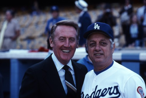 One of my favorite photos of Tommy and Vin, the Godfathers of the franchise.