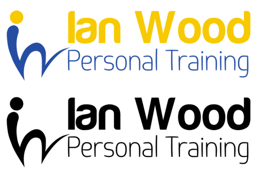 "First design idea for the Ian Wood Personal Training Logo. Colour / Black and White preview. The Idea is that you can drop the ""Ian wood - Personal training"" and use the IW bouncing ball swish logo on its own at times. I think this would look pretty good on a t-shirt or business card. thoughts?? Second design idea coming shortly."