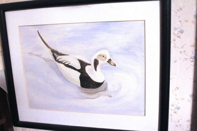 "My duck watercolor that I gave to the Kidds years ago.  Painted in early 1994.  I recall that it is about 9"" x 12""."