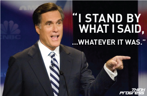 Romney stands by himself, re: Reverend Wright attacks. Sometimes RMoney makes such little sense that, out of compassion, you hope he's lying.