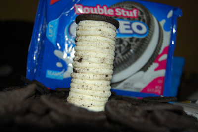 prettygirlfood:  Double Stuffed Oreo Tower