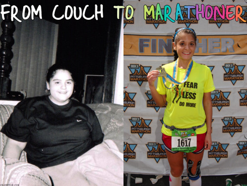 chasefear:  Impossible is nothing.  This woman is amazing. Formerly 230 pounds, she set out to get healthy through running and a healthy diet. She's lost 100 pounds, kept it off for two years and just finished her first marathon the day I ran Broad Street. All I have to say: