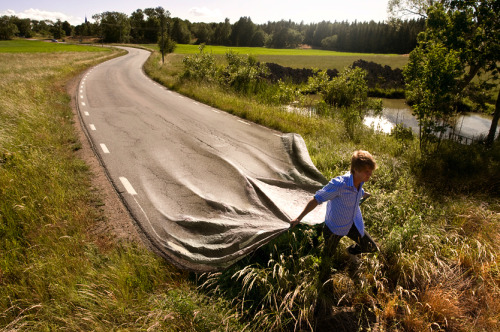 architizer:  Infrastructure in Motion: Go Your Own Road by Erik Johansson