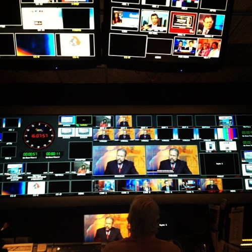 Another day in the NewsHour control room -TG